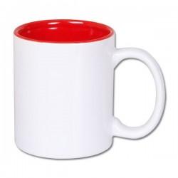 Kubek z wnętrzem czerwonym