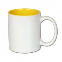 Kubek z wnętrzem żółtym